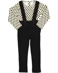 Whitlow & Hawkins Boys Dot Bodysuit & Overall Set - 218007