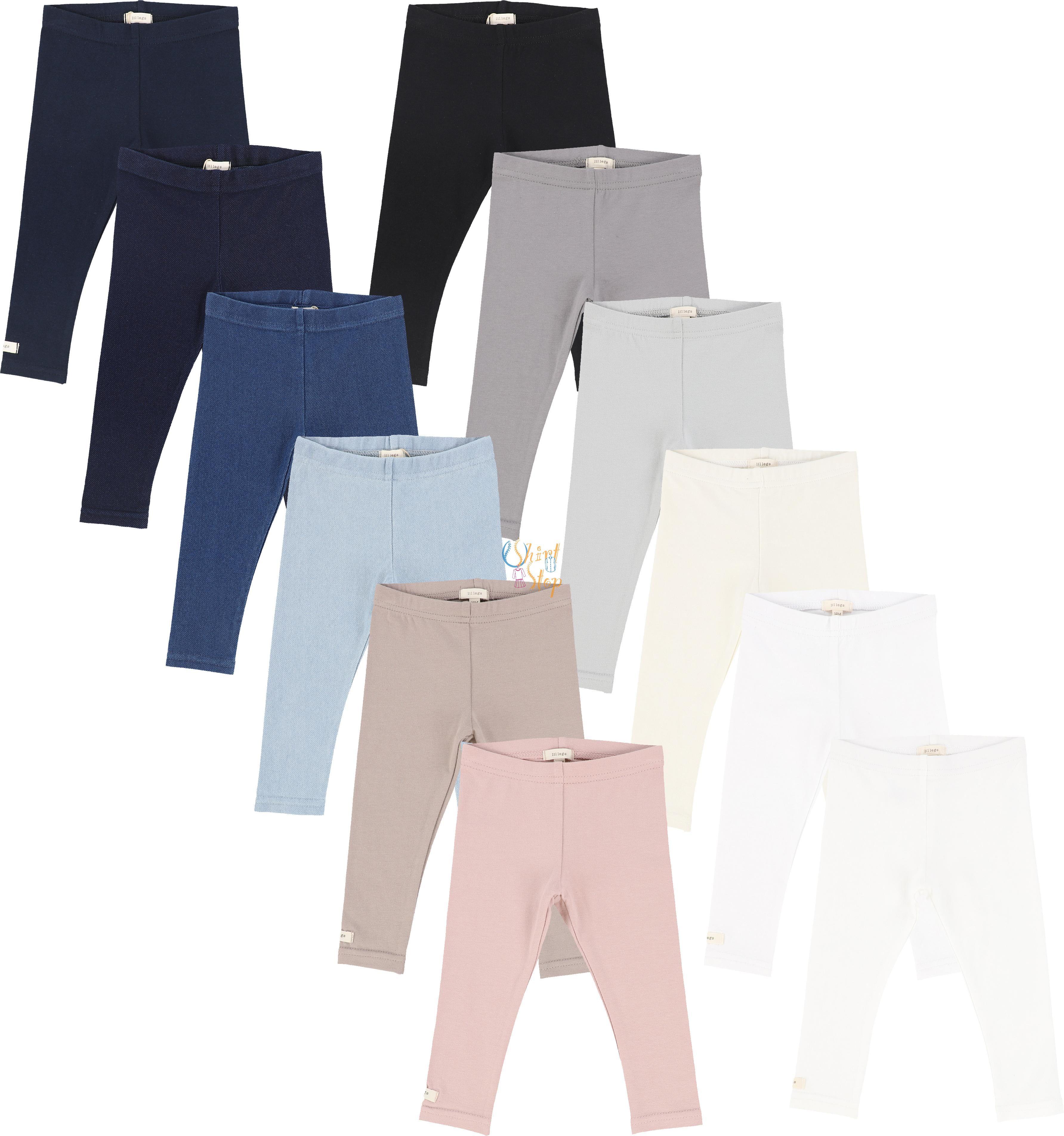 24 Months Lil Legs Unisex Boys Girls Cotton Short Leggings Navy
