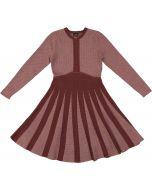 Abigail Girls Herringbone Flare Knit Sweater Dress - WB0CY1302