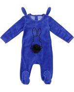 All Navy Baby Boys Velour Bunny Stretchie - 81W211-B