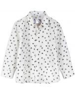 Buttonup by iKippah Boys Long Sleeve Dress Shirt - Triangles