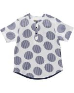 C.T.N Boys Seersucker Short Sleeve Dress Shirt - 9264