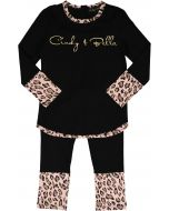 Cindy and Bella Girls Cotton Leopard Pajamas - SS9019