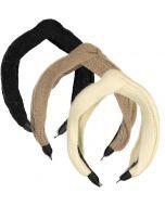 Dazzle Girls Sweater Knit Top Knot Headband - 120H