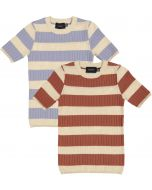 Hopscotch Boys Short Sleeve Striped Rib Knit Sweater - SB1CP4337
