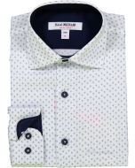 Isaac Mizrahi Boys Long Sleeve Dress Shirt - SH9544