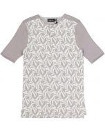 Space Gray Boys Short Sleeve Dress Knit Stars Print Shirt - SB0CY1170B